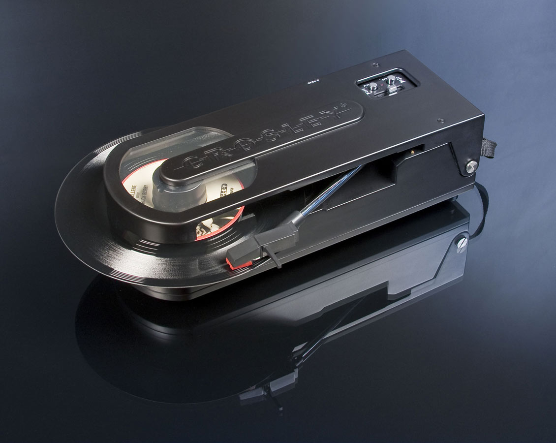 Crosley CR6002A-BK Revolution Portable USB Turntable