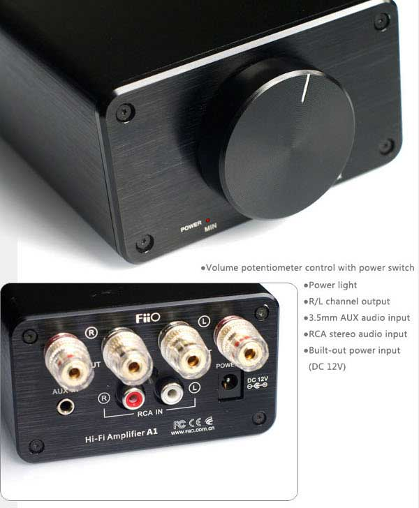 FiiO A1 - Front &amp; Back