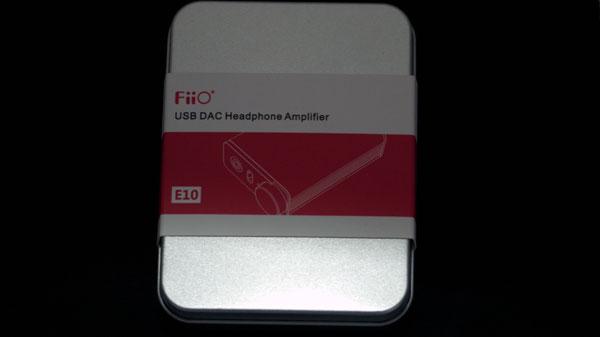 The FiiO E10 tin