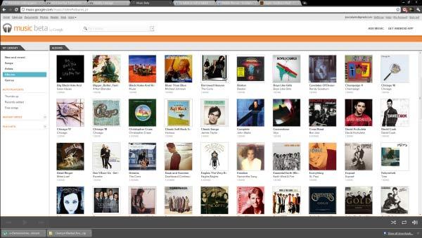 Google Music Beta on the desktop browser.
