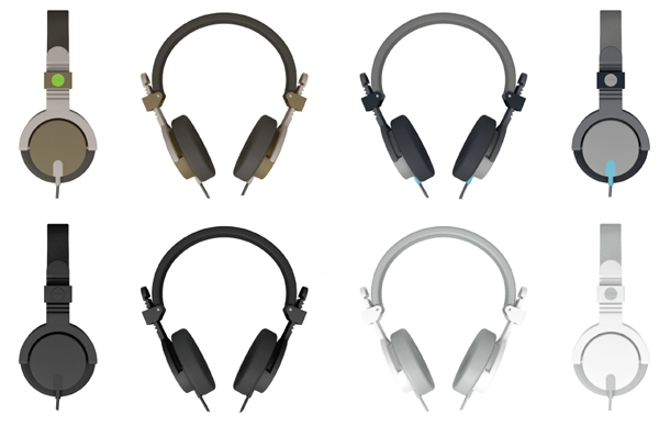 The Aiaiai Capital headphone color range