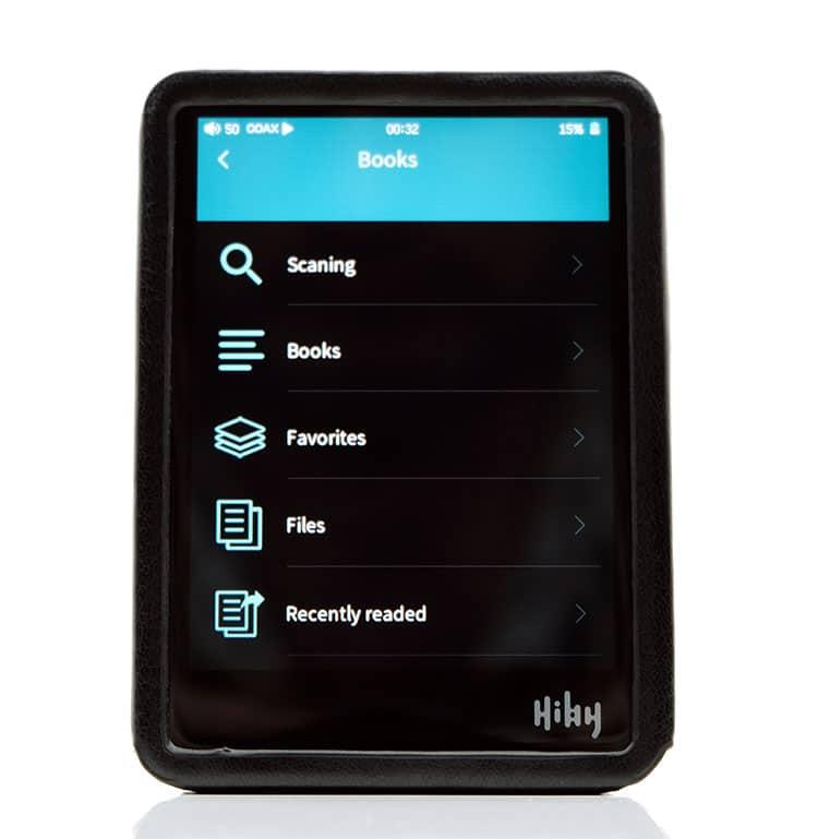 HiBy R3 Pro e-books